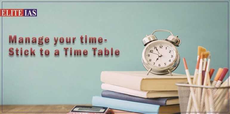Manage your time for ias